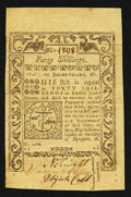 Colonial Notes:Rhode Island, Rhode Island May 1786 40s Very Fine Extremely Fine.. ...