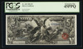 Large Size:Silver Certificates, Fr. 269 $5 1896 Silver Certificate PCGS Extremely Fine 45PPQ.. ...