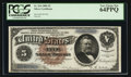 Large Size:Silver Certificates, Fr. 264 $5 1886 Silver Certificate PCGS Very Choice New 64PPQ.. ...