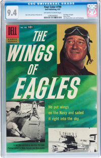 Four Color #790 The Wings of Eagles (Dell, 1957) CGC NM 9.4 Off-white to white pages