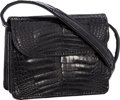 "Luxury Accessories:Accessories, Lana Marks Shiny Black Alligator Micro-Mini Waist Bag. Good toVery Good Condition. Bag: 4.5"" Width x 3.5"" Height x1...."