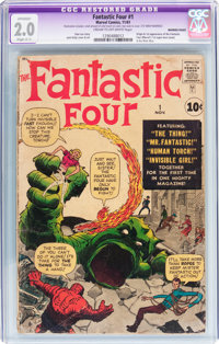 Fantastic Four #1 (Marvel, 1961) CGC Apparent GD 2.0 Slight (C-1) Cream to off-white pages