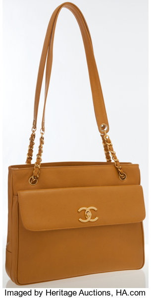 67aa0598868841 Luxury Accessories:Bags, Chanel Mustard Caviar Leather Shoulder Bag with  Gold Hardware .