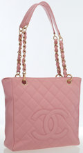 Luxury Accessories:Bags, Chanel Pink Caviar Leather Tote Bag with Gold Hardware . ...