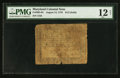 Colonial Notes:Maryland, Maryland August 14, 1776 $1/2 PMG Fine 12 Net.. ...