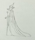 Animation Art:Production Drawing, Sleeping Beauty Maleficent and Diablo Production DrawingAnimation Art(Walt Disney, 1959)....