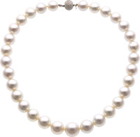 South Sea Cultured Pearl, Diamond, White Gold Necklace