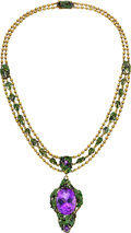 Estate Jewelry:Necklaces, Amethyst, Enamel, Gold Necklace, By Louis Comfort Tiffany, Tiffany& Co.. ...
