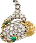 Estate Jewelry:Rings, Diamond, Emerald, Platinum, Gold Ring, David Webb. ...
