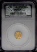 California Fractional Gold: , 1853 G$1 --Improperly Cleaned--NCS. AU50 Details BG-530. NGCCensus: (7/6646). PCGS Population (86/4301). Mintage: 4,076,051...