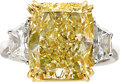 Estate Jewelry:Rings, Fancy Light Yellow Diamond, Diamond, Gold Ring. ... (Total: 2Items)