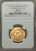 German States:Hamburg, German States: Hamburg. Free City gold Ducat 1742-IHL AU58 NGC,...