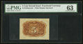 Fractional Currency:Second Issue, Fr. 1232SP 5¢ Second Issue Wide Margin Back PMG Choice Uncirculated 63.. ...