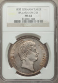 German States:Bavaria, German States: Bavaria. Ludwig I Taler 1832 MS64 NGC,...