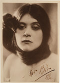 Movie/TV Memorabilia:Autographs and Signed Items, A Theda Bara Signed Black and White Photograph, 1916....