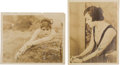Movie/TV Memorabilia:Autographs and Signed Items, A Theda Bara Pair of Signed Sepia Photographs, 1916, 1920....(Total: 2 Items)