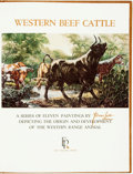 Books:Art & Architecture, Tom Lea. Western Beef Cattle. A Series of Eleven Paintings by Tom Lea Depicting the Origin and Development of the Wester...