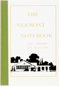 Books:Literature 1900-up, John Ashbery. SIGNED/LIMITED. The Vermont Notebook. LosAngeles: Black Sparrow Press, 1975. First edition, limited t...