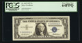 Small Size:Silver Certificates, Serial Number 2 Fr. 1619 $1 1957 Silver Certificate. PCGS Very Choice New 64PPQ.. ...