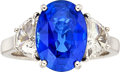Estate Jewelry:Rings, Sapphire, Diamond, Platinum Ring, Piranesi. ...
