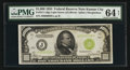 Small Size:Federal Reserve Notes, Low Serial Number J00000038A Fr. 2211-J $1,000 1934 Light Green Seal Federal Reserve Note. PMG Choice Uncirculated 64 Net.. ...