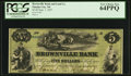Obsoletes By State:Nebraska, Omaha City, NE- The Brownville Bank and Land Company $5 Sep. 1, 1857 G4c. ...