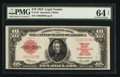 Large Size:Legal Tender Notes, Fr. 123 $10 1923 Legal Tender PMG Choice Uncirculated 64 Net.. ...