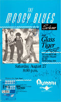 Music Memorabilia:Autographs and Signed Items, Moody Blues Band Signed Concert Poster (1988)....