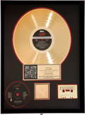 Music Memorabilia:Awards, Rolling Stones The Rolling Stones Singles Collection The LondonYears RIAA Hologram Gold Sales Award (...