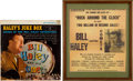 Music Memorabilia:Autographs and Signed Items, Bill Haley Autographed Handbill and Album Cover....