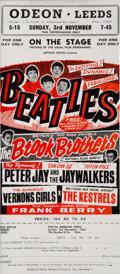 Music Memorabilia:Posters, Beatles Leeds Odeon Concert Flyer, November 3, 1963....