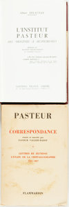 Books:Biography & Memoir, [Louis Pasteur] Pair of Texts Relating to Louis Pasteur. One is onevolumes (of a four volume set) of his correspondence. (F... (Total:2 Items)