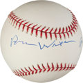 Music Memorabilia:Autographs and Signed Items, Brian Wilson Signed Baseball. ...