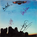 Music Memorabilia:Autographs and Signed Items, Eagles Autographed First Album, Eagles (Asylum SD-5054,1972)...