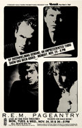 Music Memorabilia:Posters, R.E.M. Fox Theater Atlanta Concert Poster (Concert/SouthernPromotions, 1986)....