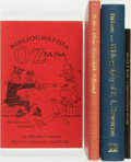 Books:Reference & Bibliography, [Bibliography] Four Bibliographies. Includes a bibliography ofOziana and of Robert Louis Stevenson. Various publishers and ...(Total: 4 Items)