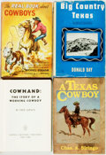 Books:Americana & American History, [Texana] [Cowboys] Group of Four Books about Cowboys. Variouspublishers and dates. Two are first editions, two are reprints...(Total: 4 Items)