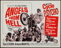 "Movie Posters:Exploitation, Angels from Hell (American International, 1968). Half Sheet (22"" X28""). Exploitation.. ..."