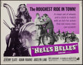 """Movie Posters:Exploitation, Hell's Belles & Others Lot (American International, 1969). HalfSheets (5) (22"""" X 28"""") & Inserts (3) (14"""" X 36""""). Exploitati...(Total: 8 Items)"""