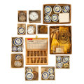 Timepieces:Other , Pocket Watch Partials, Movements, Cases, Winding Keys Wholesale Assortment. ...