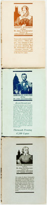 John Drinkwater. SIGNED. Group of Three Plays. Includes: Mary Stuart, Abraham Lincoln [and:]