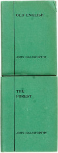 Books:Literature 1900-up, John Galsworthy. INSCRIBED. Old English [and:] TheForest. London: Duckworth, [1924]. First editions. Both a...(Total: 2 Items)