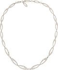 Estate Jewelry:Necklaces, Diamond, White Gold Necklace, Bvlgari. ...