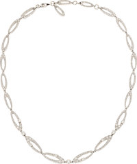 Diamond, White Gold Necklace, Bvlgari