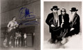 Music Memorabilia:Autographs and Signed Items, Two ZZ Top Signed Black and White Photographs.... (Total: 2 Items)