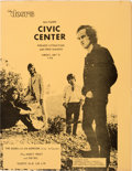 Music Memorabilia:Documents, The Doors With Jim Morrison Baltimore Civic Center Concert Handbill(1970)....