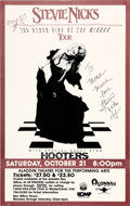 Music Memorabilia:Autographs and Signed Items, Stevie Nicks Signed Concert Poster, 1989...