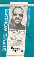 Music Memorabilia:Autographs and Signed Items, Stevie Wonder Signed Concert Poster, 1988...