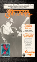Music Memorabilia:Autographs and Signed Items, Carlos Santana Signed Concert Poster, 1988...