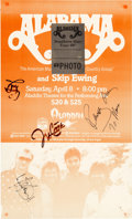Music Memorabilia:Autographs and Signed Items, Alabama Signed Tour Poster, 1989....